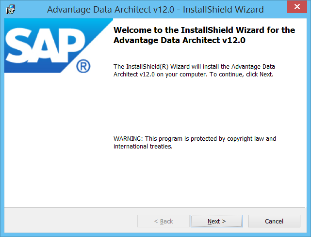 Advantage Data Architect InstallShield Wizard