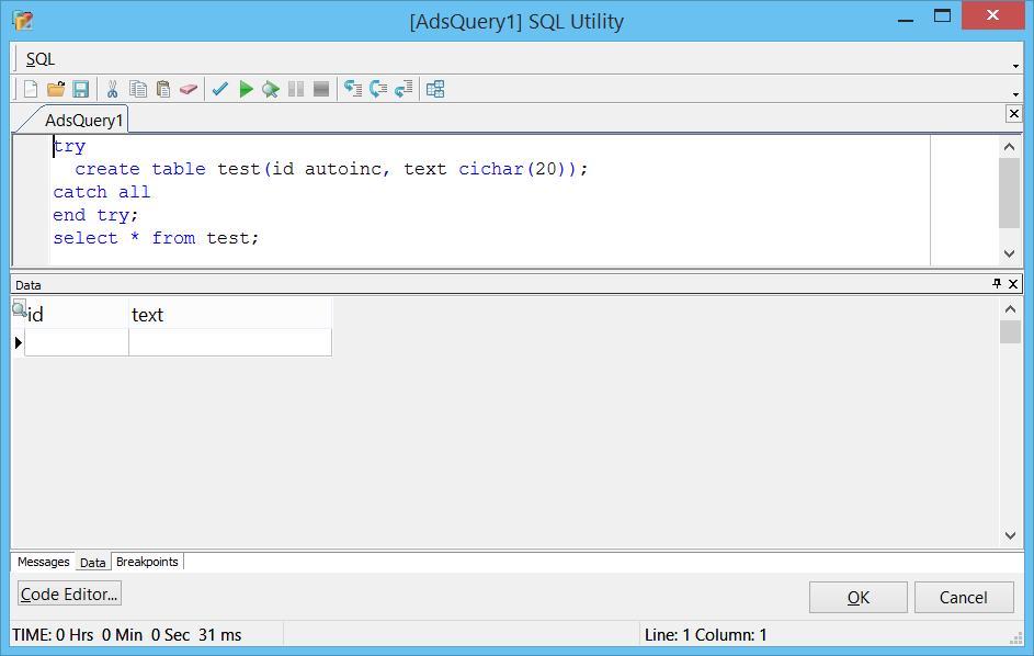 SQL utility